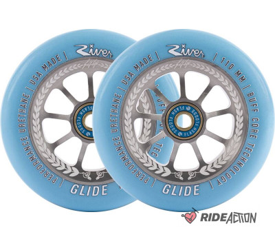 КОЛЕСА RIVER GLIDE JUZZY CARTER 110MM ГОЛУБОЙ